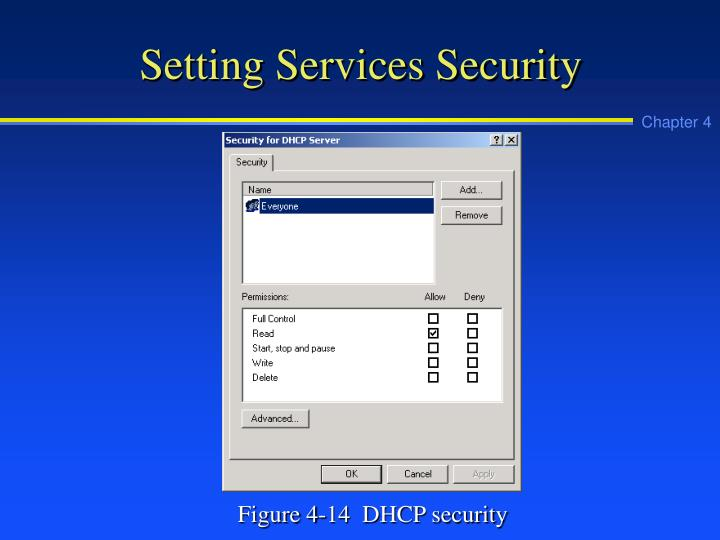 Setting Services Security