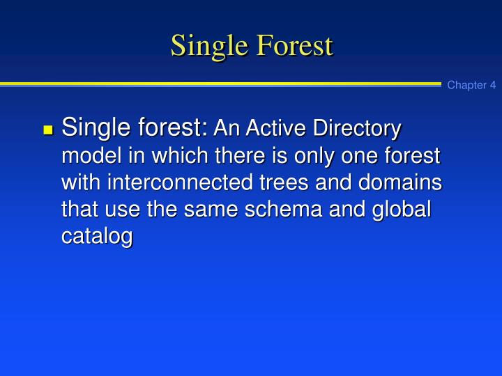 Single Forest