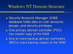 windows nt domain structure