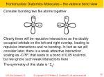 homonuclear diatomics molecules the valence bond view