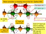 now consider a missing row of as for gaas 100
