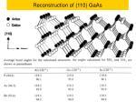reconstruction of 110 gaas