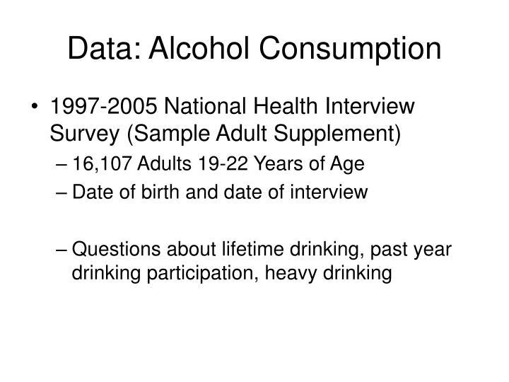 Data: Alcohol Consumption