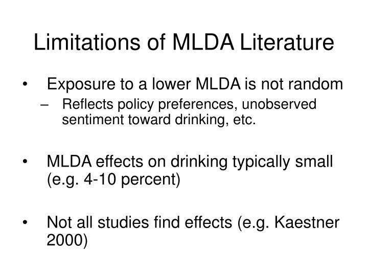 Limitations of MLDA Literature