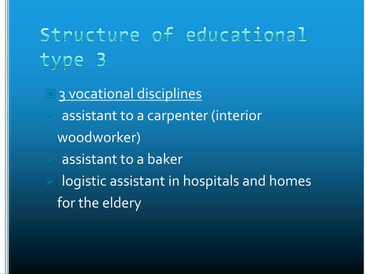 3 vocational disciplines