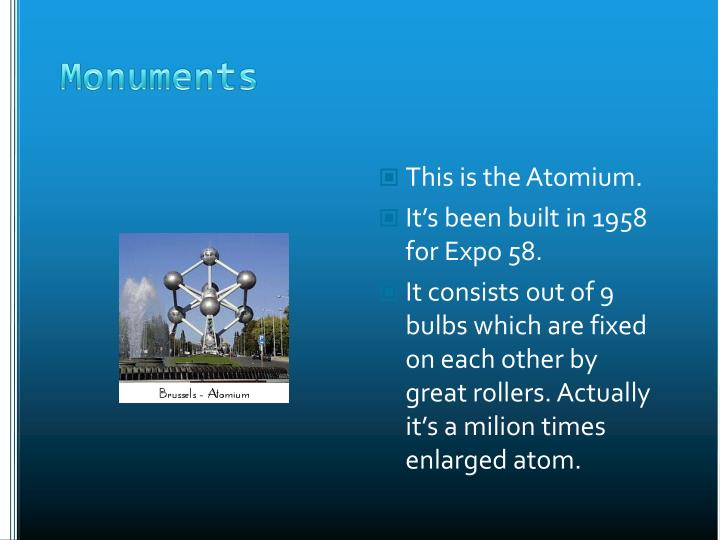 This is the Atomium.