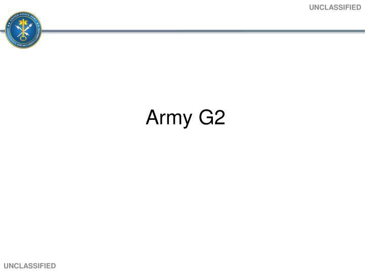 Army G2