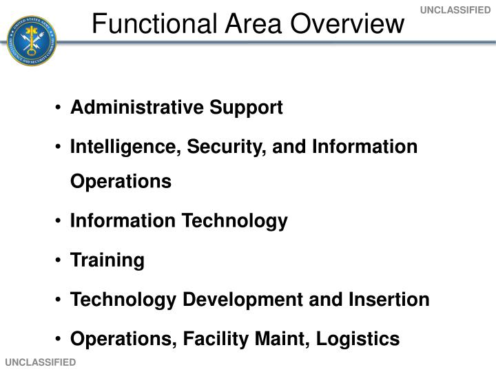 Functional Area Overview