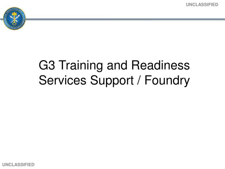 G3 Training