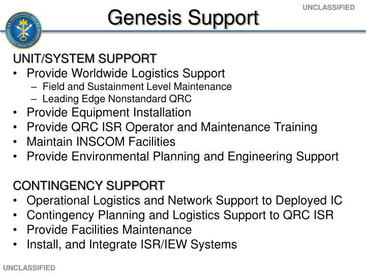 Genesis Support