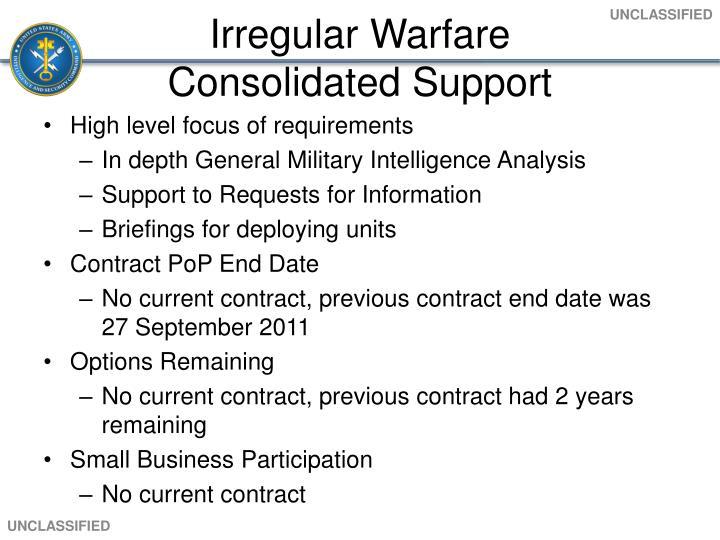 Irregular Warfare
