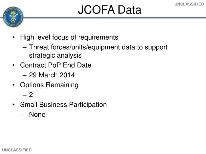 JCOFA Data