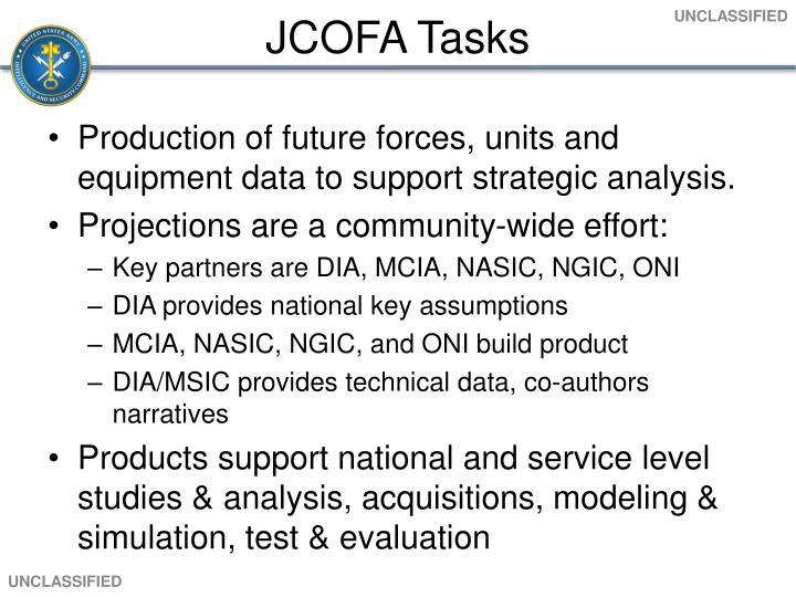 JCOFA Tasks