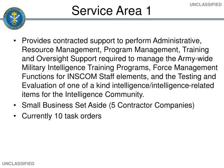 Service Area 1