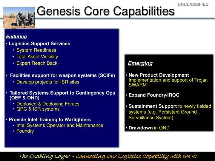 Genesis Core Capabilities