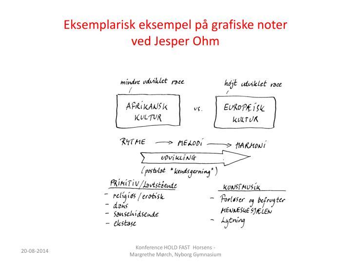Eksemplarisk eksempel på grafiske noter