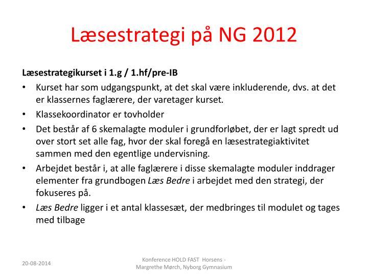 Læsestrategi på NG 2012