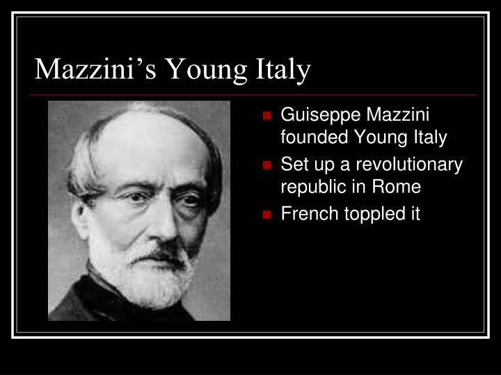 Mazzini's Young Italy