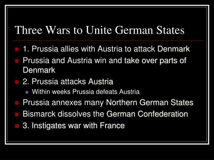 Three Wars to Unite German States