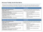 discoverer training session descriptions