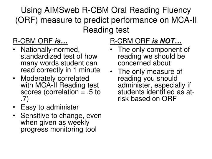 R-CBM ORF