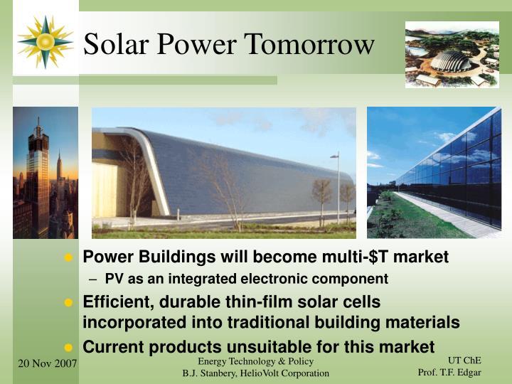 Solar Power Tomorrow
