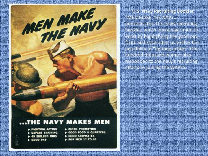 U.S. Navy Recruiting Booklet
