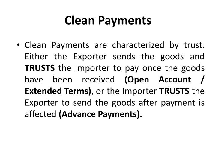 Clean Payments