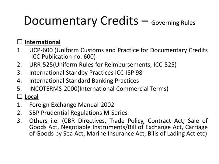 Documentary Credits –