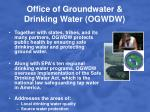 office of groundwater drinking water ogwdw