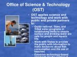 office of science technology ost