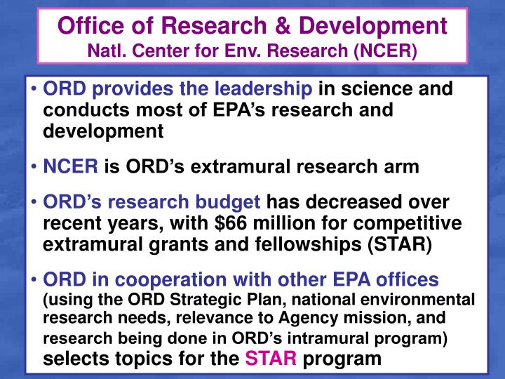 Office of Research & Development