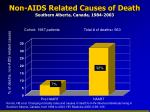 non aids related causes of death southern alberta canada 1984 2003
