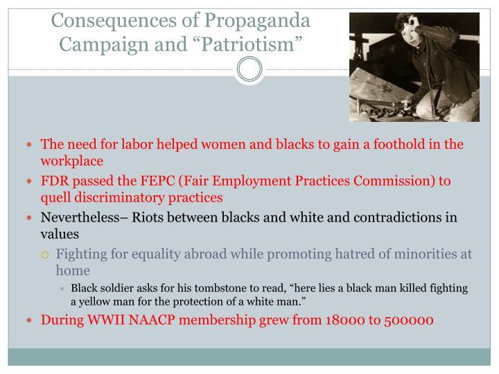 "Consequences of Propaganda Campaign and ""Patriotism"""