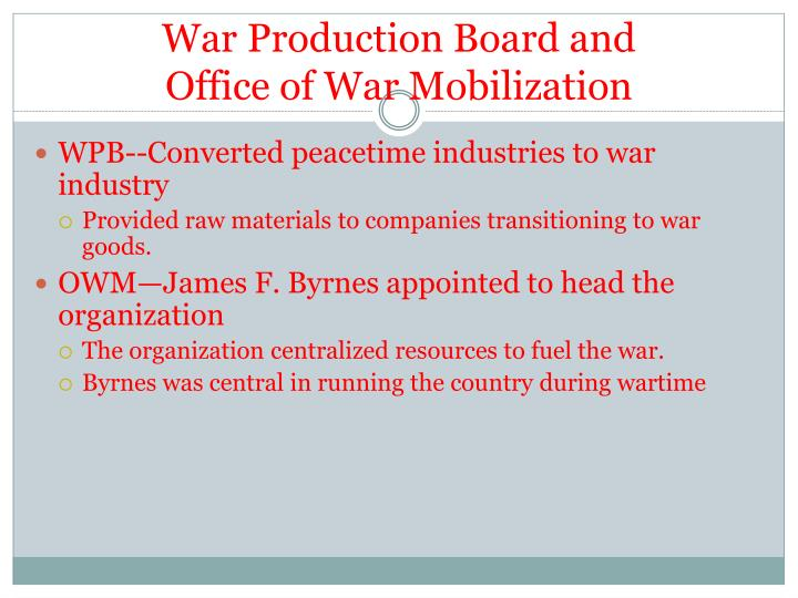 War Production Board and