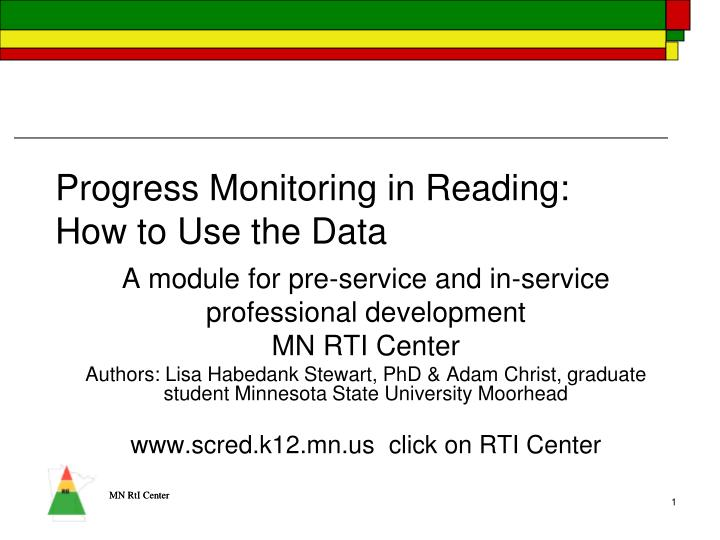 progress monitoring in reading how to use the data