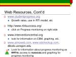web resources cont d