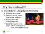 why progress monitor