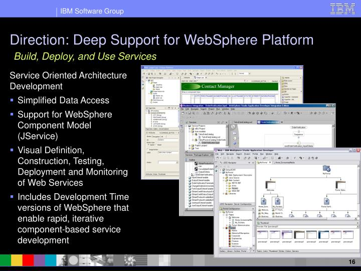 Direction: Deep Support for WebSphere Platform
