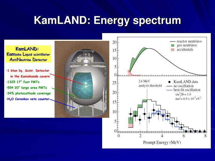 KamLAND: Energy spectrum