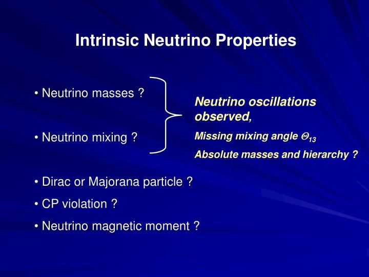 Intrinsic Neutrino Properties