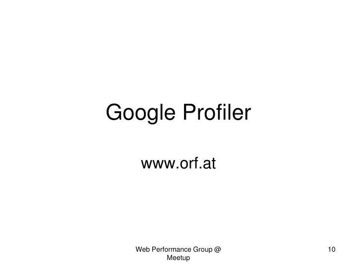 Google Profiler