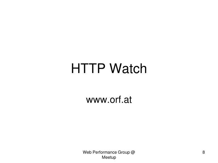 HTTP Watch