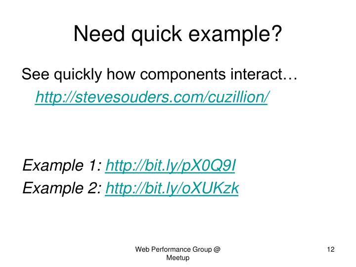 Need quick example?