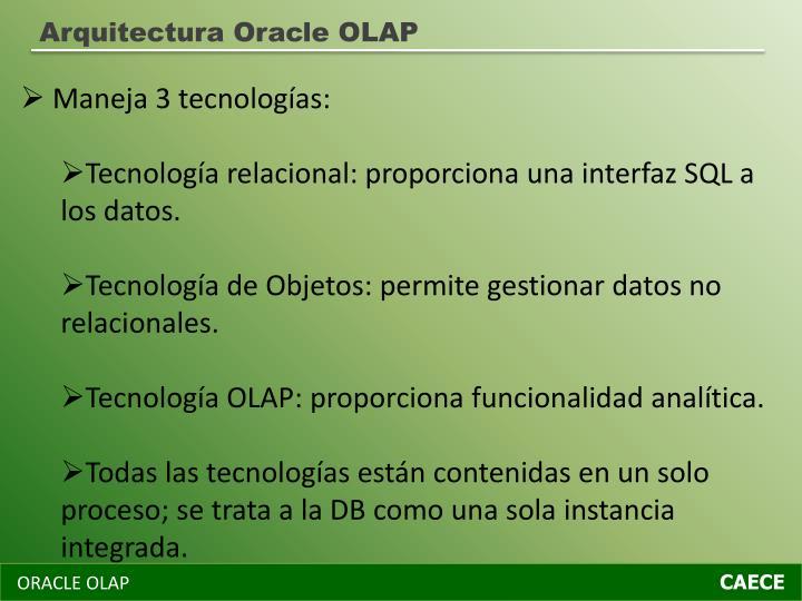 Arquitectura Oracle OLAP