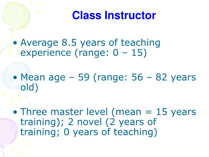 Class Instructor