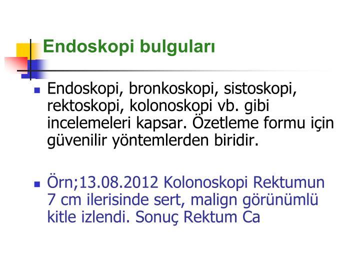 Endoskopi bulguları
