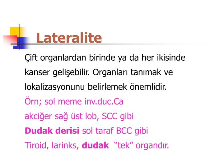 Lateralite