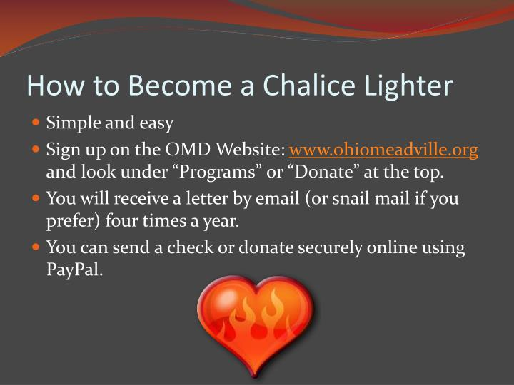 How to Become a Chalice Lighter