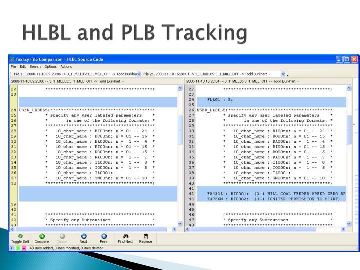 HLBL and PLB Tracking